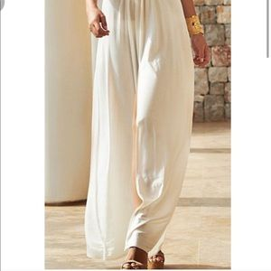 Zara Cream Sheer Slit Maxi Skirt